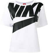 Nike logo print T-shirt - women - Cotton/Polyester/Viscose - XS