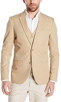 Perry Ellis Men's Solid Slub Linen Cotton Suit Jacket