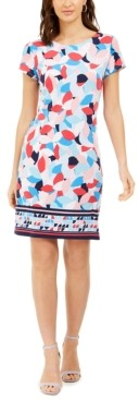 Pappagallo Border-Print Sheath Dress