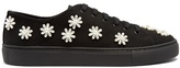 Simone Rocha Floral-embellished canvas low-top trainers