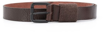Paolo Pecora Kids Cracked-Effect Leather Belt