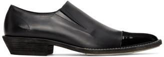 Haider Ackermann Black Slip-On Derby Loafers
