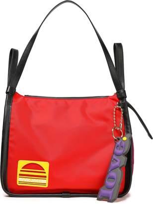 Marc Jacobs Appliqued Color-block Twill Shoulder Bag