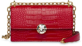 Miu Miu Embellished Leather Shoulder Bag