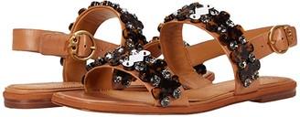 Tory Burch 5 mm Delaney Embellished Sandal (Tan) Women's Shoes