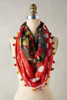 Anthropologie Bloomed & Dotted Scarf