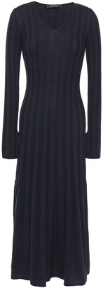 Cédric Charlier Ribbed Wool Midi Dress