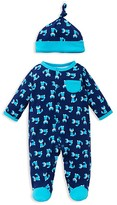Offspring Infant Boys' Fox Print Footie & Hat Set - Sizes Newborn-9 Months