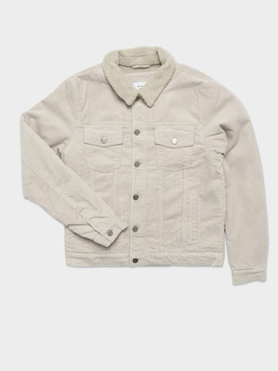 Article One Jaxon Sherpa Trucker Jacket in Ecru