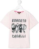 Roberto Cavalli animal print T-shirt - kids - Cotton/Spandex/Elastane - 4 yrs