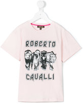 Roberto Cavalli animal print T-shirt - kids - Cotton/Spandex/Elastane - 8 yrs