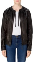 J Brand Women's Baez Leather Bomber Jacket