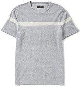 Michael Kors Textured Stripe Short-Sleeve Tee