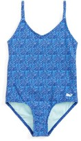 Vineyard Vines Toddler Girl's Palmetto Print One-Piece Swimsuit