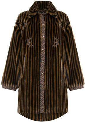 Fendi Pre-Owned Pequin faux-fur coat
