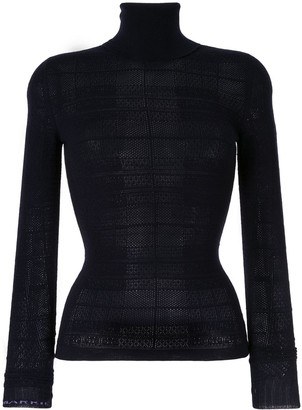 Barrie knitted roll neck top
