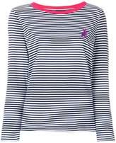 Paul Smith striped dinosaur logo jersey top