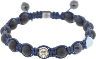 Shamballa Jewels Blue Sapphire Onyx Bead Bracelet