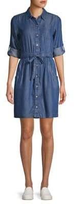 Calvin Klein Belted Denim Shirtdress