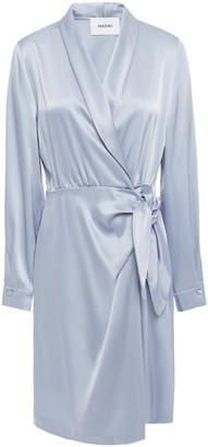Nanushka Siwa Satin Mini Wrap Dress