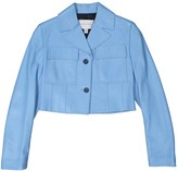 Jonathan Saunders Blue Leather Jacket for Women