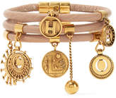 Chloé Leather And Gold-tone Charm Bracelet - one size