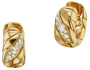 Maria Canale Petal 18K Yellow Gold & Diamond Hoop Earrings