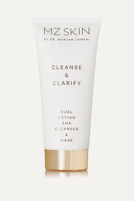 MZ SKIN Cleanse & Clarify Dual Action Aha Cleanser & Mask, 100ml