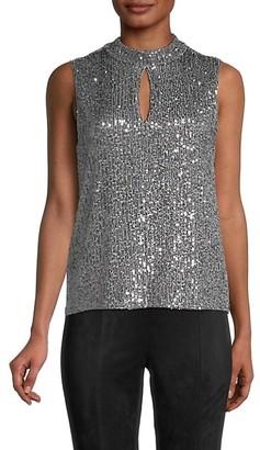 Calvin Klein Sequin-Embellished Sleeveless Top