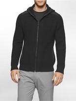 Calvin Klein Cotton Blend Bonded Zip Hoodie
