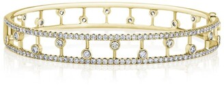 De Beers Yellow Gold and Diamond Dewdrop Bangle
