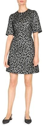 Dolce & Gabbana Jacquard Animal Print Dress