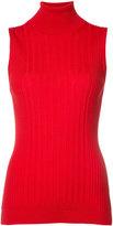 Maison Margiela polo neck sleeveless sweater - women - Wool - M