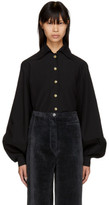 Lemaire Black Large Sleeve Shirt