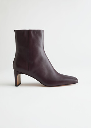 And other stories Slim Block Heel Leather Boots
