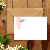 Wilson Hope & Bespoke Blush Pink And Gold Correspondence Cards