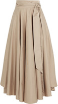 Tibi Obi Cotton-crepe Maxi Skirt - Beige