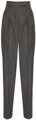 Max Mara Wool & Cashmere Flannel Pants