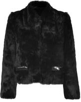 Sandro Black Rabbit Fur Jacket