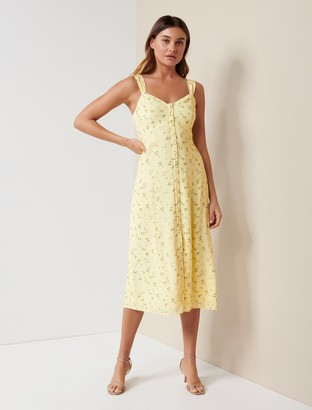 Forever New Frankie Button-Through Sun Dress - LEMONADE DITSY - 10