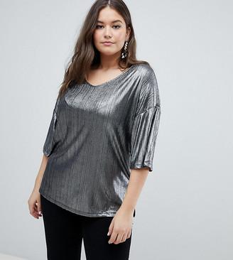 Junarose Liquid Metal T-Shirt-Silver