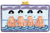 Edie Parker Jean Panel Luau box clutch