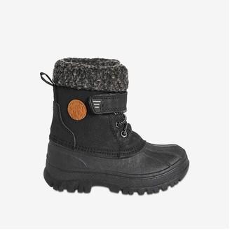 Joe Fresh Toddler Boys' Bungee Lace Snow Boots, Black (Size 9)