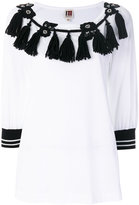 I'M Isola Marras tassel embroidered blouse