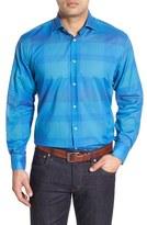 Thomas Dean Men's Classic Fit Check Sport Shirt