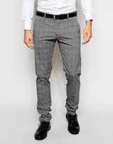 Antony Morato Prince Of Wales Check Suit Trousers In Super Slim Fit - Grey