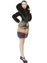 Crocodile With Mink And Fox Fur Coat