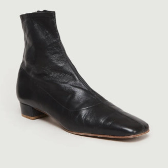 BY FAR Black Leather Este Boots - 36 | leather | black - Black/Black