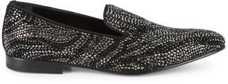 Roberto Cavalli Embellished Leather Loafers