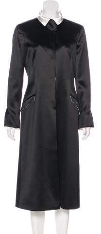Giorgio Armani Long Structured Satin Coat